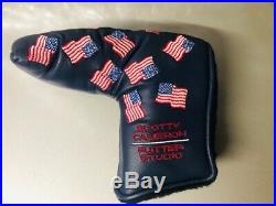 2002 Scotty Cameron Blue Dancing Flags Putter Cover Red Pivot Tool New