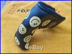 2007 Scotty Cameron Smiley Face Putter Headcover WithDivot Pivot tool Head cover