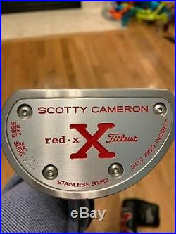 EUC Scotty Cameron Red X Lawsuit Putter Withhdcvr &tool 35in