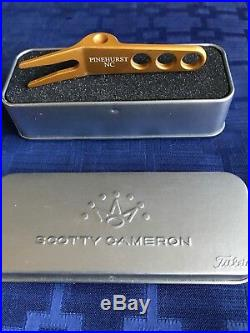 EXTREMELY RARE Scotty Cameron 2012 Pinehurst NC Light Orange Divot Tool