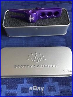 EXTREMELY RARE Scotty Cameron 2013 Fleur De Lis Purple Divot Tool