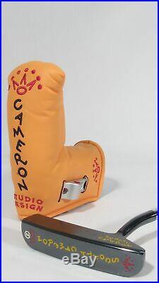 Mint! SCOTTY CAMERON STUDIO DESIGN 2 GUN-BLUE 35 PUTTER withHC & TOOL RH