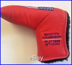 NEW SCOTTY CAMERON Red USA Flag Putter Headcover w Pivot Tool JULY 4th Golf RARE