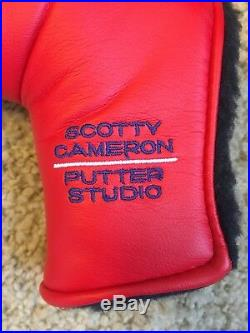 NEW Scotty Cameron AMERICAN Flag Large Red USA Head Cover DIVOT TOOL