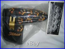 NIB TITLEIST SCOTTY CAMERON 2002 BLACK MINI CROWNS PUTTER HC withPIVOT TOOL