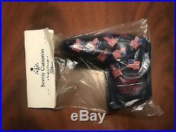 New 2002 Scotty Cameron 9/11 Dancing USA Flag Blue Blade HC w Pivot Tool In Bag