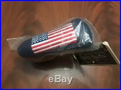 New 2002 Scotty Cameron 9/11 Large USA Flag Blue Blade HC with Pivot Tool In Bag