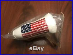 New 2002 Scotty Cameron 9/11 Large USA Flag White Blade HC with Pivot Tool In Bag
