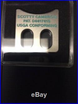 New SCOTTY CAMERON Alignment Tool Silver Black w Tiffany Blue USGA CONFORMING