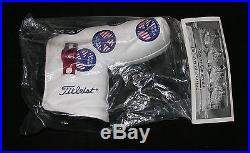 New Scotty Cameron 2004 USA Peace Sign Headcover with red Pivot Tool BNIP