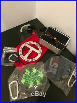 New Scotty Cameron CT Bag Tag, Putting Disc, Horseshoe Coin & Clip Pivot Tool