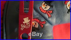 New Scotty Cameron Titleist 2003 Dancing Snowmen Blue Headcover W Red Divot Tool