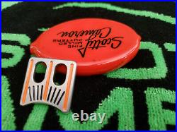 Rare Scotty Cameron Putter Golf Alignment tool aid Orange Ball Marker MINT