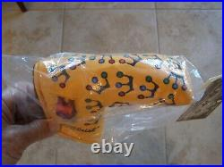 SCOTTY CAMERON 2002 YELLOW MINI CROWNS PUTTER HEADCOVER with PIVOT TOOL New