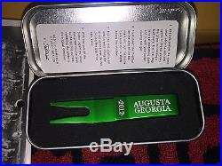 SCOTTY CAMERON 2012 AUGUSTA HEAD COVER & KELLY GREEN CLIP PIVOT TOOL IN TIN NEW