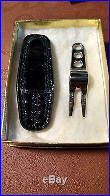 Scotty Cameron Stainless Divot Tool With Black Alligator Holster Rare New