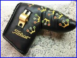 Scotty Cameron 2002 Black Mini Crowns Headcover With Tool RARE NOOB