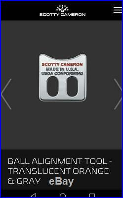 Scotty Cameron Ball Coin Marker BALL ALIGNMENT TOOL Limited Halloween 2019