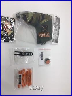 Scotty Cameron Camo Headcover and tees and divot tool pin