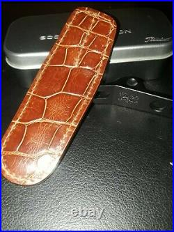 Scotty Cameron Divot Tool with Exotic Genuine Brown Alligator Leather Holster