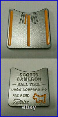 Scotty Cameron Golf Ball Marker Circle T Alignment Tool Yellow 2009 Limited