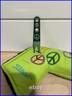 Scotty Cameron Headcover 2003 Lime Peace Sign Putter Cover Divot Tool Golf New