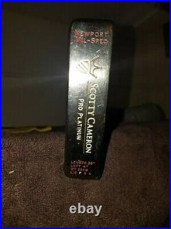 Scotty Cameron Pro Platinum Newport mil Spec 35, New Headcover & Divot Tool