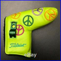 Scotty Cameron RARE 2003 Peace Sign Putter Headcover with Pivot Tool New
