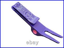Scotty Cameron Sneaky Tiki Clip Pivot Tool Purple Golf Rare