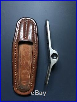 Scotty Cameron Stainless Steel Pivot Divot Tool With Leather Holder