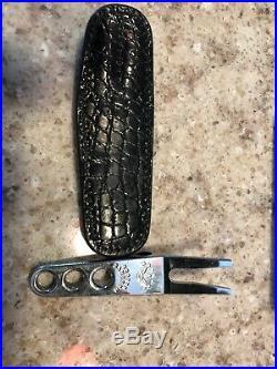 Scotty Cameron Stainless Steel Pivot Tool WithBlack Alligator Case- RARE