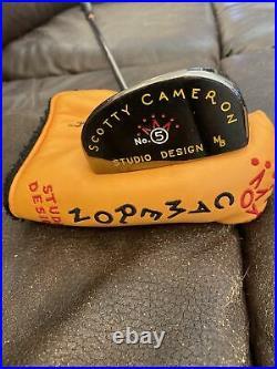 Scotty Cameron Studio Design No. 5 Putter & Headcover. 35 Divot Tool
