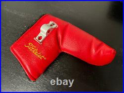 Scotty Cameron Studio Stainless Circle T Rare Leather Headcover with Divot Tool