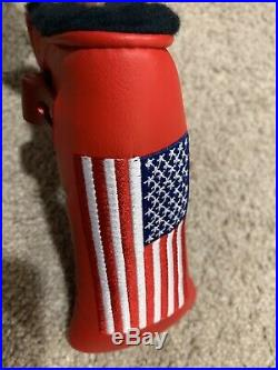 Scotty Cameron Titleist American Flag Headcover With Tool Unique Very Cool