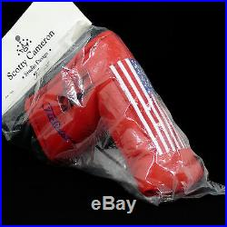 Scotty Cameron / Titleist NEW (NIB) 2002 Red Large U. S. Flag Headcover with Tool