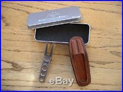 Scotty Cameron Titleist Stainless Steel Pivot Divot Tool Aop Leather Holster Pga