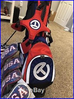Scotty Cameron USA bag with NIB Covers, Towel, Divot Tool And Ball Marker