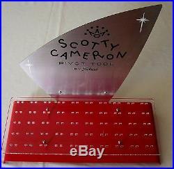 Titleist Golf scarce rare Scotty Cameron Divot Tool Retail Store Display Rack