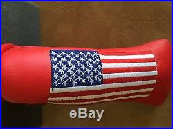 Titleist Scotty Cameron- 911 American Flag Red Head Cover -Mint Divot Tool