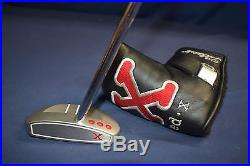 Titleist Scotty Cameron Red X2 Lawsuit Mallet 3 Dot Putter 35 Headcover & Tool