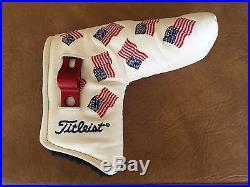Titleist Scotty Cameron USA Mini Flags White Head Cover Mint Divot Tool