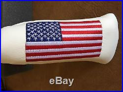 Titleist- Scotty Cameron- White Large American Flag Headcover -Mint-Divot Tool