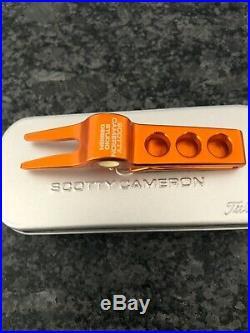 VERY RARE Scotty Cameron Rat Pack Orange Clip Divot/Pivot Tool NEW in TIN